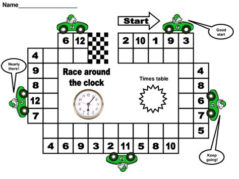 how to teach my child times tables race around the clock times tables by matt7 teaching
