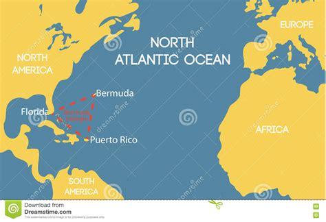 bermuda world map map of the bermuda triangle my