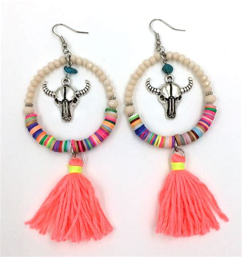 how to make fashion jewelry 2016 new dangle earrings with cotton tassel