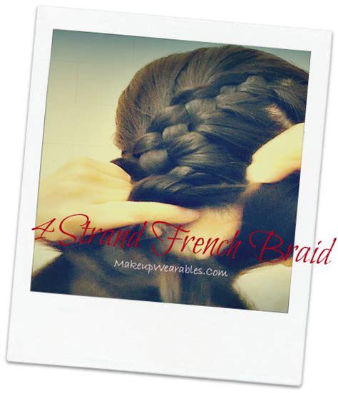 easiest way to four 4 strand braid 4 strand braid your hair tutorial tina