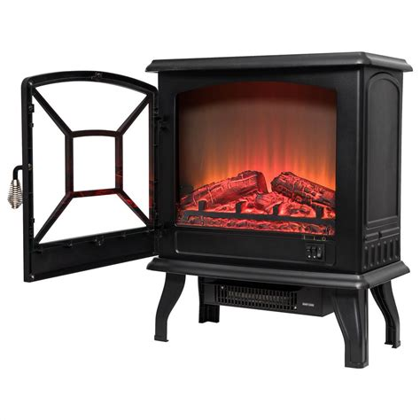 fireplace tempered glass akdy 20 in freestanding electric fireplace heater in black with tempered glass fp0081 the