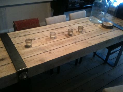 butcher block esszimmertisch dining table the reclaimed wood and industrial