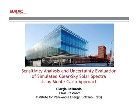 Mba In Analyics Of Arkansas by 23 G Belluardo Sensitivity Analysis And Uncertainty