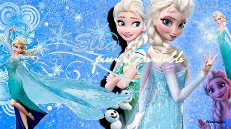 wallpaper elsa bergerak frozen elsa wallpaper 1366 x 768 by bluepuffles on deviantart