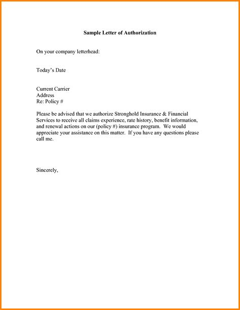 Authorization Letter To Get Passport 14 Authorization Letter To Receive Passport Ledger Paper