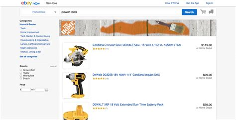ebay now desktop home depot techcrunch