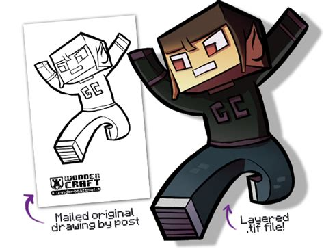 minecraft character drawing template contest wondercraft