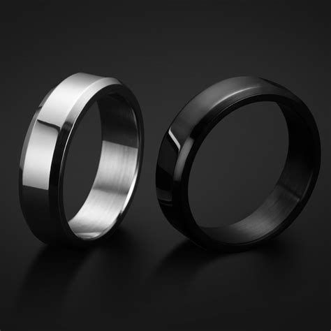 wedding rings stainless steel vs sterling silver