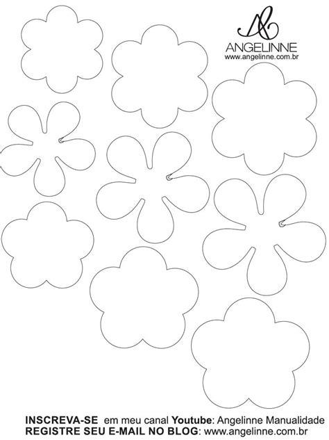 moldes de flores de papel molde mini flor de papel flores de tecido e papel pap