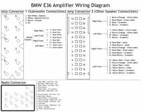 1995 bmw 325i e6 amplifier and radio connector wiring diagram binatani