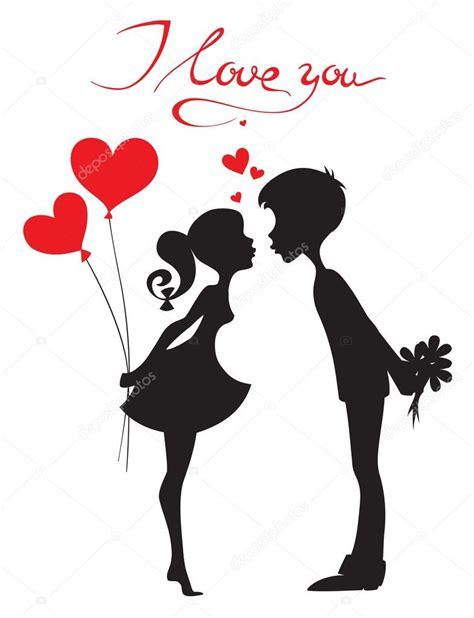 imagenes en blanco y negro de parejas enamoradas silueta de una pareja enamorada vector de stock