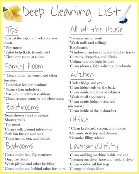 how to deep clean house 25 best ideas about deep cleaning schedule on pinterest