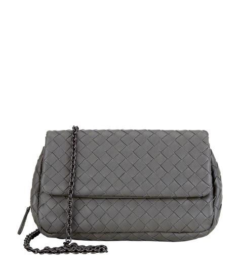 Bottega Veneta Mini Boston Bag by Bottega Veneta Mini Intrecciato Chain Crossbody Bag In
