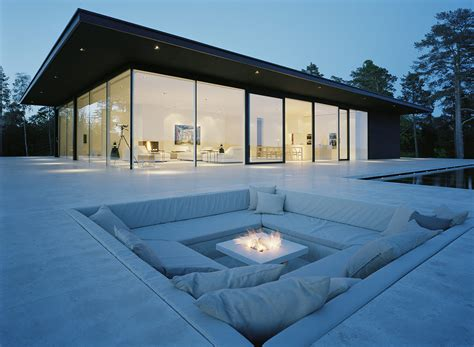 stunning glass house in sweden