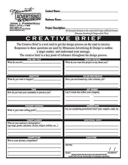 ogilvy creative brief template printable ogilvy creative brief template free template