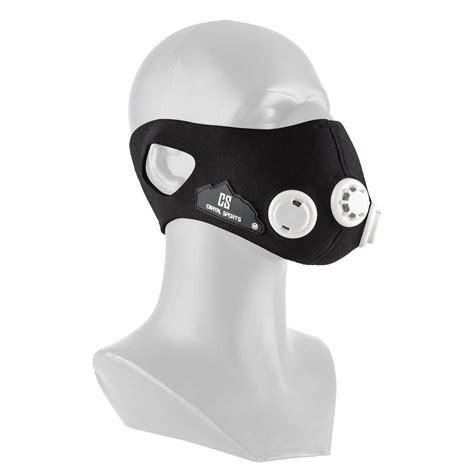 Elevation Mask Masker Latihan Size M breathor breathing mask altitude size m 7 attachments black capital sports
