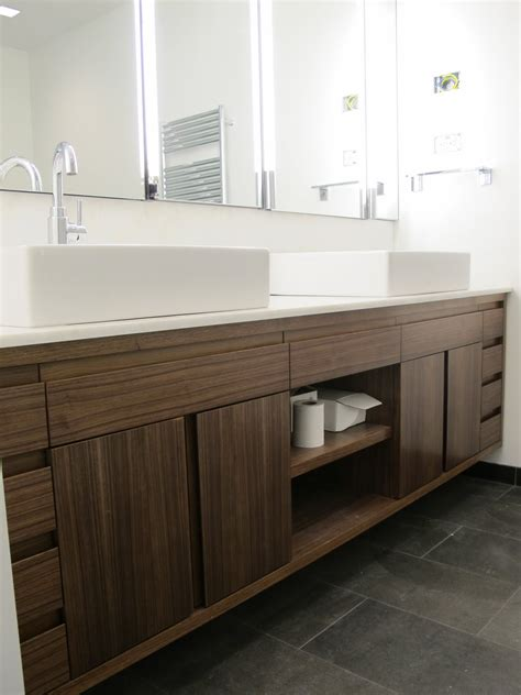 custom double sink bathroom vanity amazing brown solid plywood custom floating vanity with