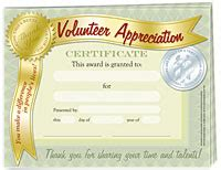 volunteer recognition certificate template quot volunteer appreciation quot certificate