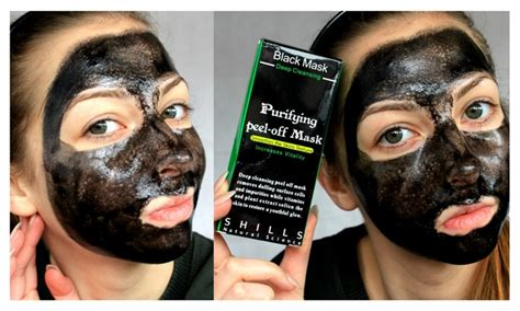 black mask shills shills deep cleansing black purifying peel off facial