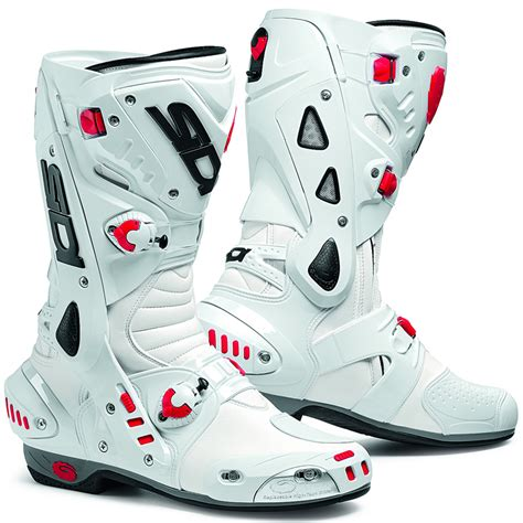 white motorbike boots sidi vortice vented race track sports bike motorcycle