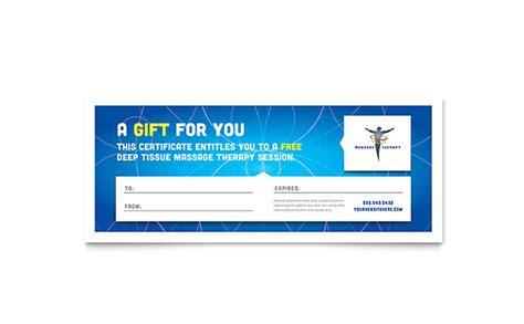 reflexology amp massage gift certificate template design