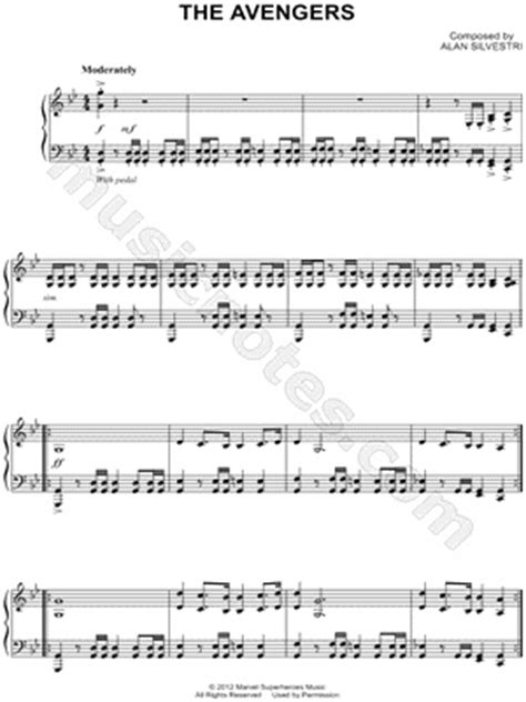 theme song avengers 78 images about sheet music on pinterest free piano
