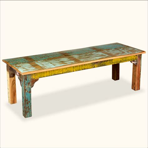 indoor bench reclaimed wood rustic indoor outdoor patio bench seat furniture ebay