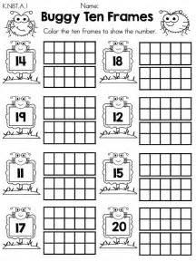 ten frames worksheets abitlikethis