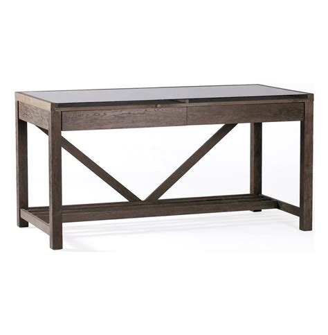 rustic wood desk reclaimed wood chunky rustic modern desk kathy kuo home