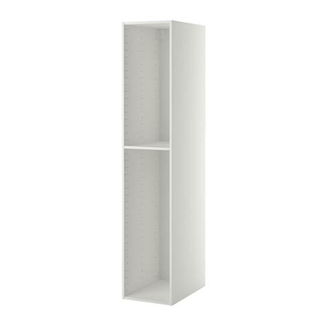 schrank 45x45 metod high cabinet frame white 40x60x200 cm ikea