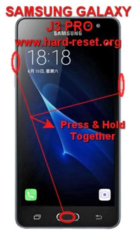 reset samsung j3 how to easily master format samsung galaxy j3 pro 2017