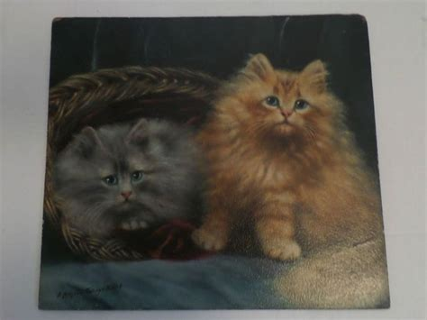 Special Edition Paket Rahman Cat original antique painting agnes augusta talboys r w a 1910 two cats realism