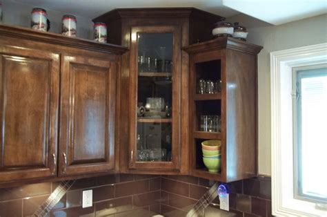 Corner Kitchen Cabinet by Corner Cabinet With Glass Doors Homesfeed