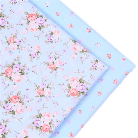 Patchwork Fabrics - 2016 new 2 pic lot 40x50cm flower cotton patchwork fabric