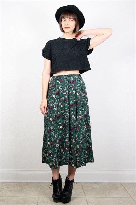 Iqlima Dress M 96 L 98 vintage 90s skirt midi skirt green forest green