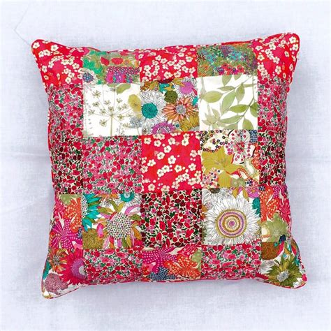 Liberty Patchwork - liberty patchwork cushion it s sew simple