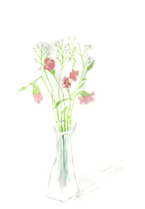 How To Draw A Vase Of Flowers Step By Step Art Illustration Gif By Katie Drew Find Amp Share On Giphy