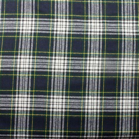 Tartan Navy Green navy green and white tartan plaid brushed polyester