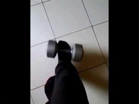 Angkat Barbel kocak angkat barbel biasa pakai tangan ini pake kaki