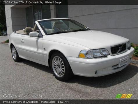 white  volvo  lt convertible beige interior gtcarlotcom vehicle archive