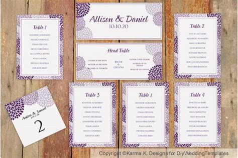 wedding seating chart template word wedding seating chart template instantly chrysanthemum plum microsoft word