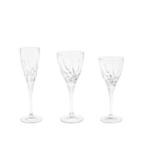bicchieri di cristallo rcr set 18 calici cristallo rcr coincasa