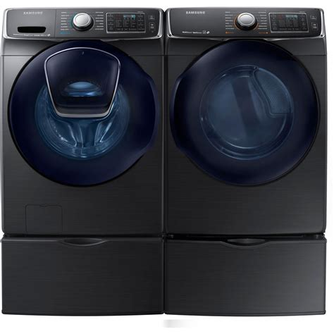 samsung black stainless washer electric dryer pedestals wf50k7500av dv50k7500ev ebay