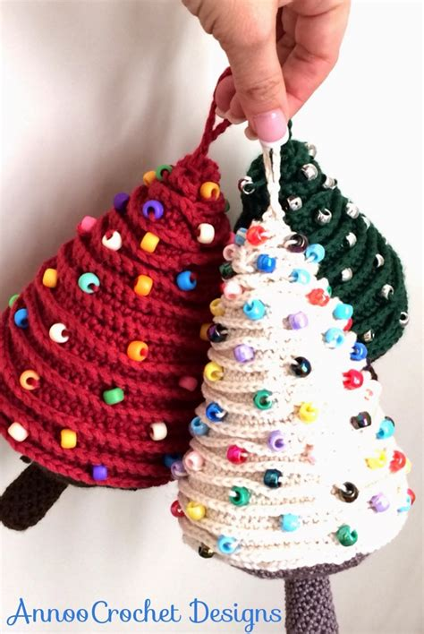 crochet christmas trees the whoot