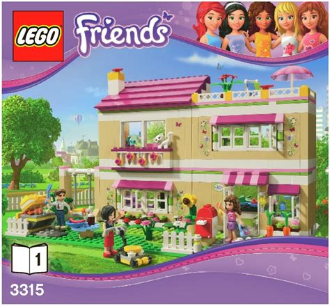 lego friends dog house friends lego olivia s house instructions 3315 friends