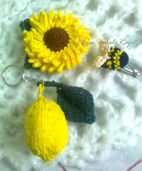 Flanel Matahari Lebah aksesoris crochet knit craft handart halaman 3