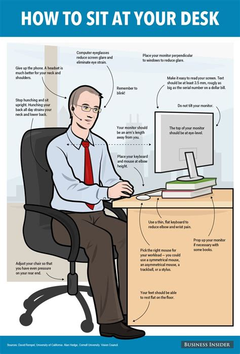 best way to sit at desk 17 best images about safety at work on health