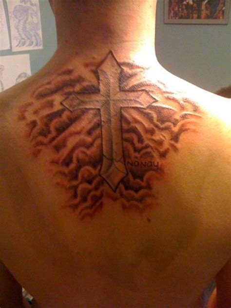 shaded cross tattoo cloud shading tattoos www pixshark images