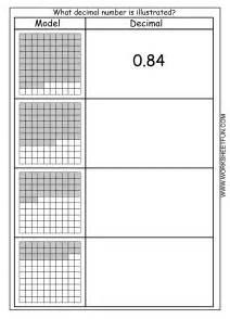 decimal model hundredths 4 worksheets free