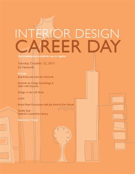 interior design as a career interior design career day 2013 kendall college of